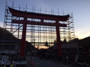 神社の鳥居改修